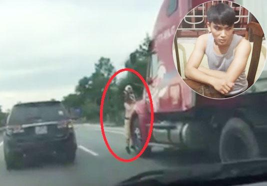 Lái xe container hất CSGT bám trên gương xuống đường đối mặt cái kết nào? - 1