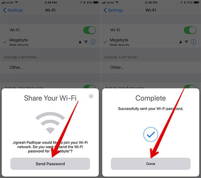 Chia sẻ mật khẩu Wi-Fi với bạn bè trên iOS và macOS - 2