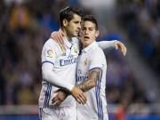 """Bóng đá - Real """"thải"""" Morata, James: Bán tương lai, giữ ông già"""