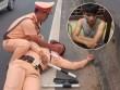Cuộc vây bắt tài xế container hất CSGT bám trên gương xuống đường