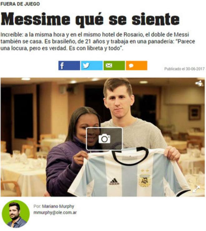 Khó tin: 2 Messi cùng cưới vợ chung ngày và địa điểm - 2