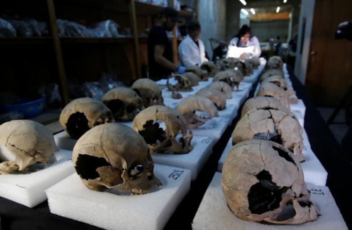 Phát hiện 675 sọ người xếp thành tháp ở Mexico - 6