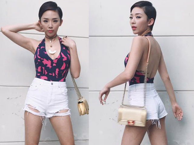 """Hari Won mặc quần siêu ngắn, """"đọ"""" độ nóng với Nhã Phương, Bảo Anh - 9"""