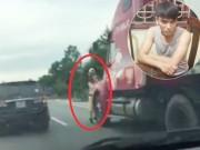 Khởi tố vụ lái xe container hất CSGT xuống đường
