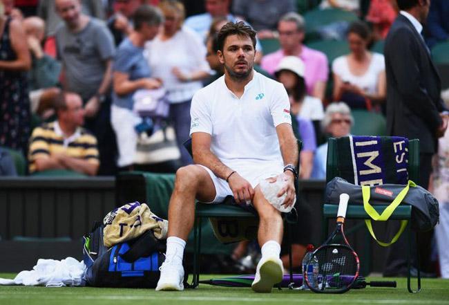 """Wimbledon: Đầu gối """"nổi loạn"""", Wawrinka lập kỷ lục đáng buồn - 2"""