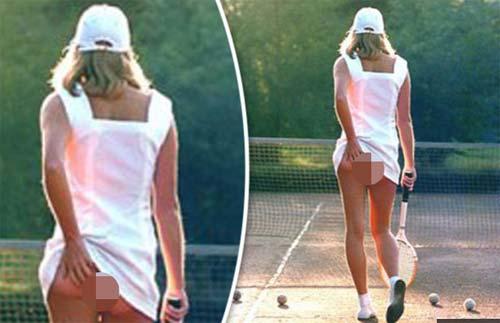 Sự thật sau ảnh kinh điển mỹ nữ tennis vén váy lộ vòng 3 - 1