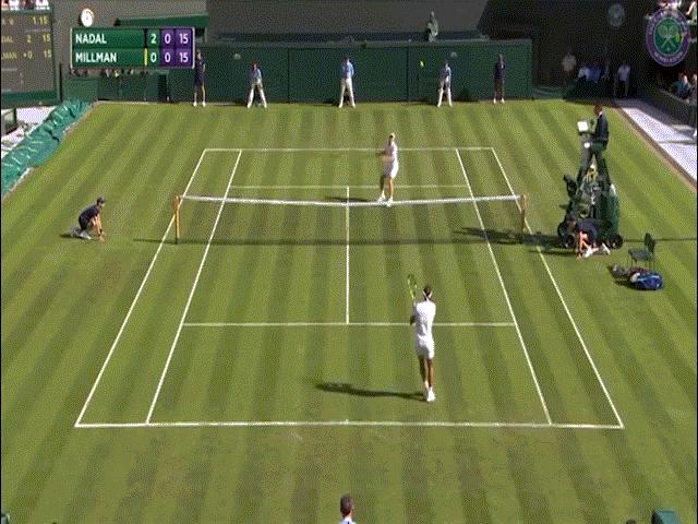 Hot shot Wimbledon: Nadal giở