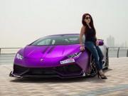 Lamborghini Huracan màu tím độc đáo của nữ doanh nhân Dubai