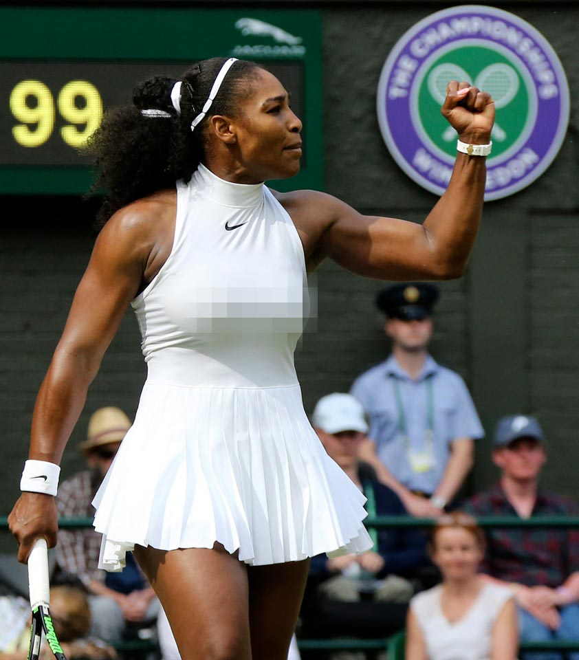 Venus, Serena Williams mặc hớ hênh, khó hiểu nhất Wimbledon - 3