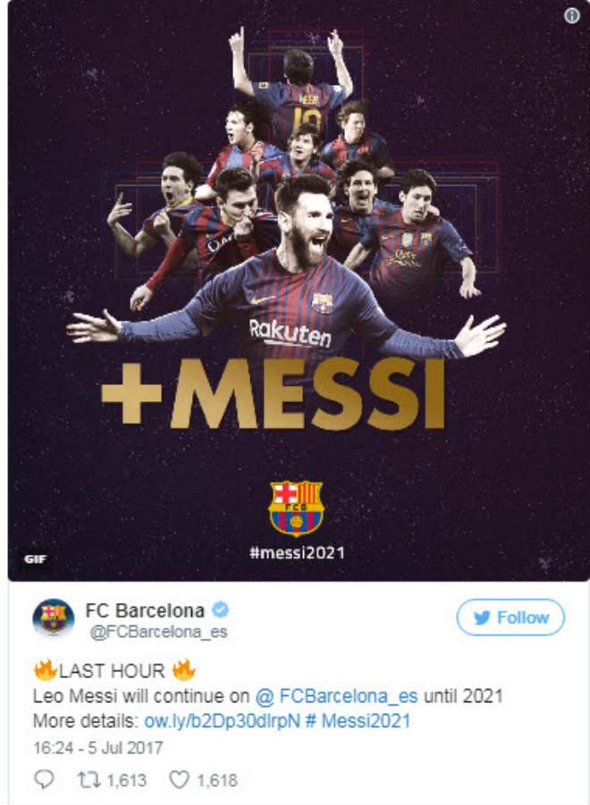 """CHÍNH THỨC: Barca """"trói"""" Messi 4 năm, trị giá 7 nghìn tỷ đồng - 1"""