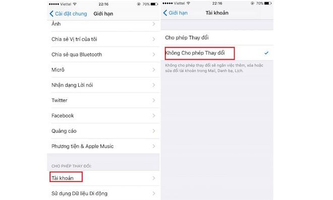 Hướng dẫn khóa thay đổi tài khoản iCloud trên iPhone - 2