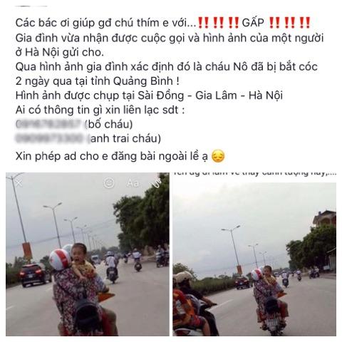 Vụ cháu bé ở Quảng Bình mất tích bí ẩn: Xác minh bức ảnh gây xôn xao - 1