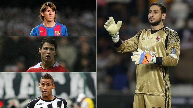 """""""Tiểu Buffon"""" lương 150 tỷ đồng: Ăn đứt Ronaldo, Messi tuổi 18 - 1"""