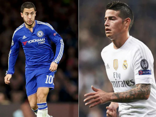 Chuyển nhượng Real 7/7: Đổi James Rodriguez lấy Hazard