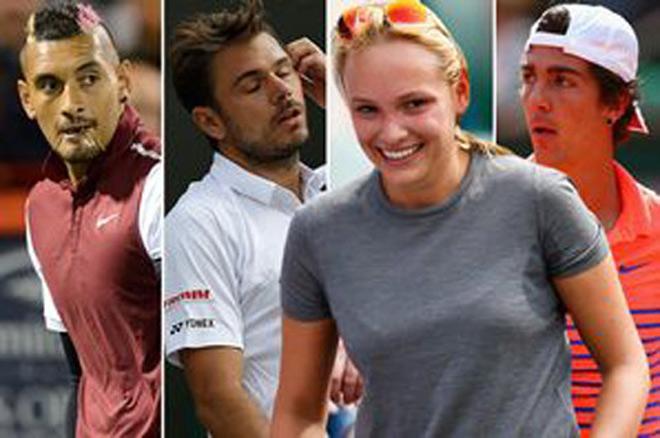 """Mỹ nhân tennis quá đẹp khiến Kyrgios ghen tị, """"sỉ nhục"""" Wawrinka - 1"""