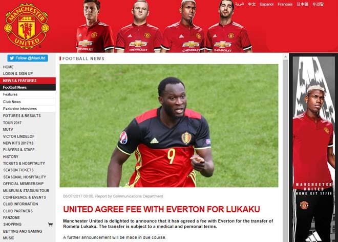 """MU xác nhận thỏa thuận xong """"bom tấn"""" Lukaku, Chelsea mất triệu bảng - 2"""