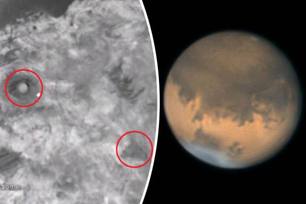 Phát hiện kim tự tháp và nhà mái vòm trên sao Hỏa? - 1