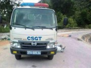 Tin tức trong ngày - Xe CSGT va xe máy, 2 người thương vong