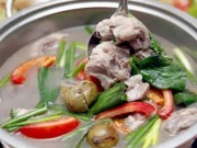Ẩm thực - Canh sườn nấu sấu chua dịu mát cho bữa cơm ngày hè