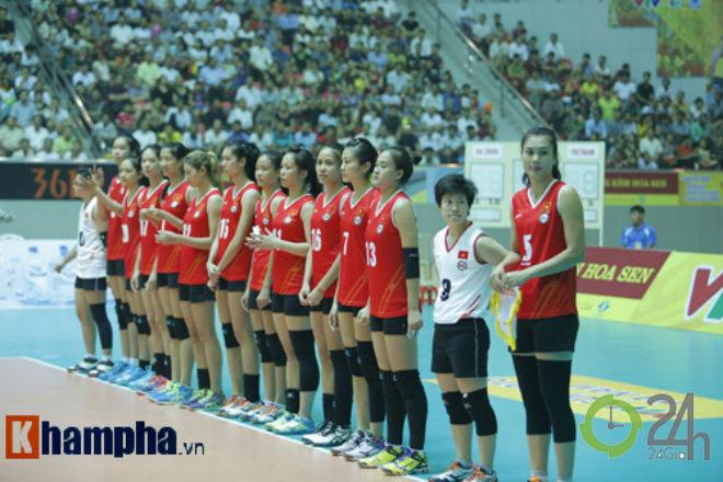 """Người đẹp bóng chuyền VTV Cup: Kim Huệ """"dạy dỗ"""" đàn em Trung Quốc - 2"""