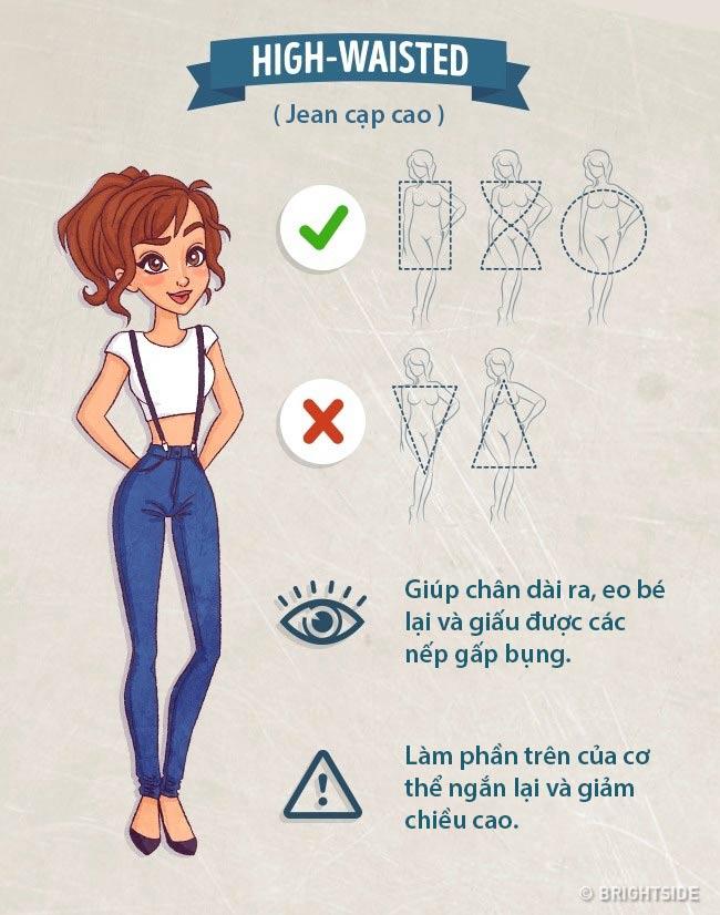 Béo ú hay gầy đét, nhớ điều này bạn sẽ chọn được quần jean ưng ý - 5