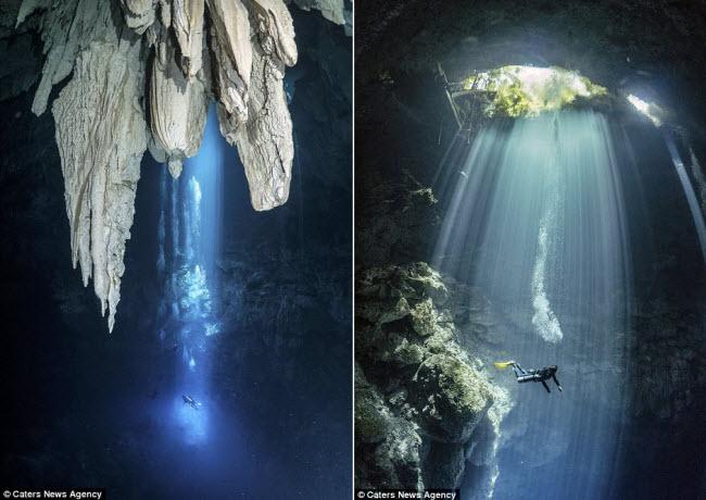 Hình ảnh ngoạn mục đến khó tin bên trong hang động ngầm dưới đáy đại dương - 7