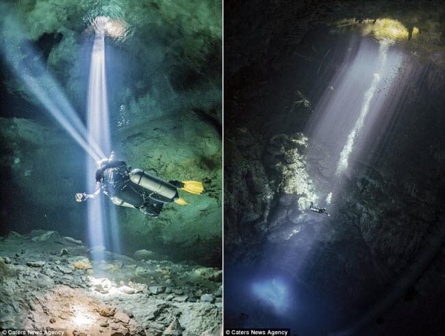 Hình ảnh ngoạn mục đến khó tin bên trong hang động ngầm dưới đáy đại dương - 9