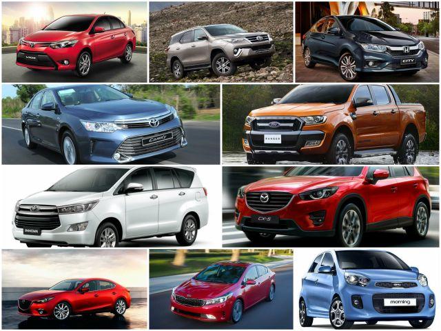 10 mẫu xe bán chạy nhất Việt Nam tháng 6/2017 - 1