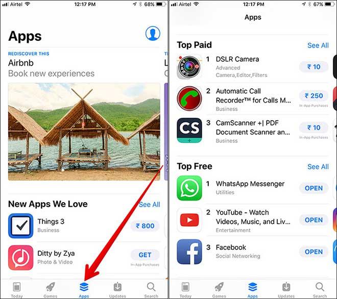 """iOS 11: Làm sao xem được """"top"""" ứng dụng miễn phí dành cho iPhone - 1"""
