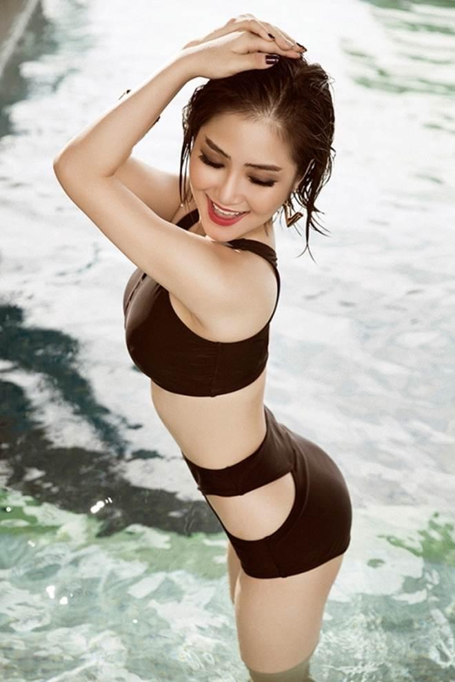 Hương Tràm khoe 3 vòng đẹp hoàn mỹ với đồ bơi lưới - 5