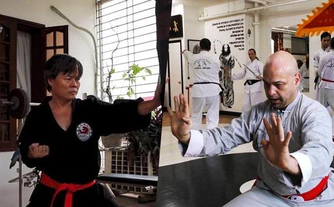 Kết quả hình ảnh cho Cao thủ Vịnh Xuân Canada đo ván võ sư Đoàn Bảo Châu