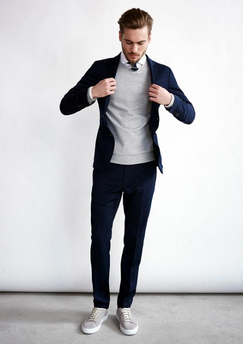 Quý ông sành điệu phải mặc veston với giày thể thao! - 17