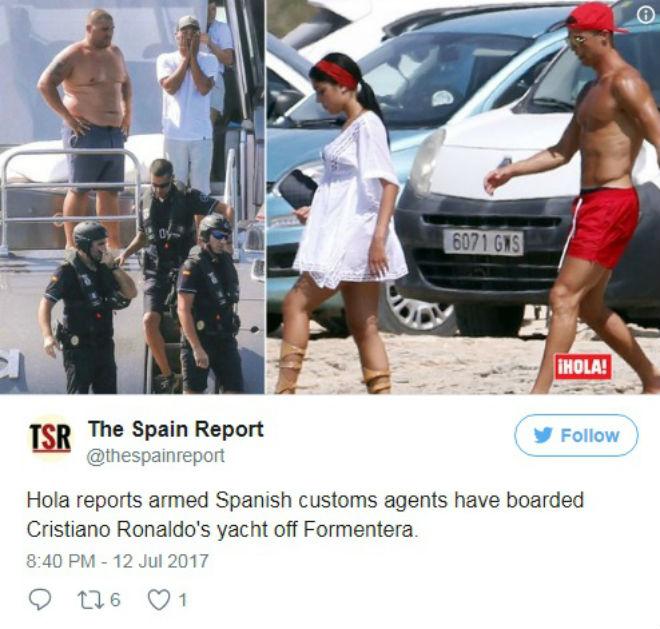 Ronaldo: Sau trốn thuế, lại bị hải quan khám xét du thuyền triệu đô - 1