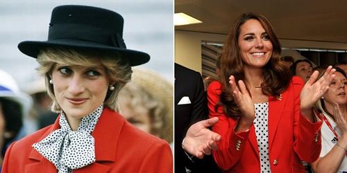"""6 lần công nương Kate """"mượn"""" quần áo của mẹ chồng Diana - 7"""