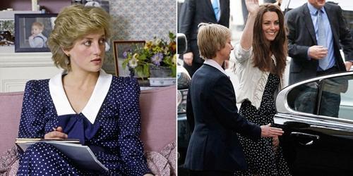 """6 lần công nương Kate """"mượn"""" quần áo của mẹ chồng Diana - 8"""