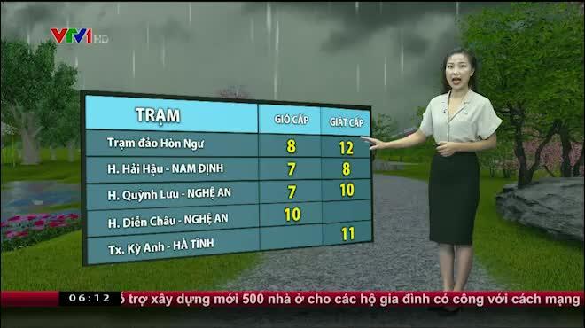 Dự báo thời tiết VTV 17/7: Bão số 2 giật cấp 12 đổ bộ Nghệ An, Hà Tĩnh