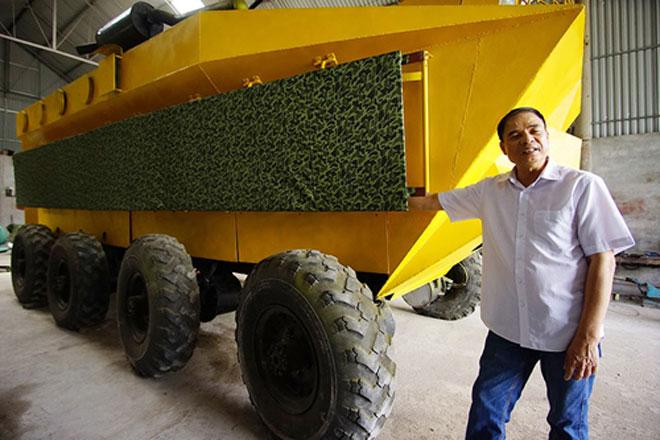 """Bán xe bọc thép 2 tỷ giá đồng nát, """"thợ vườn"""" làm máy phát điện triệu USD - 1"""