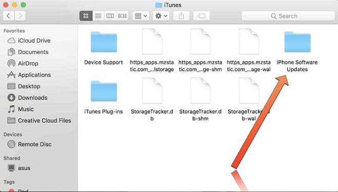 Tập tin cập nhật iPhone được iTunes tải về đâu trên máy tính? - 4
