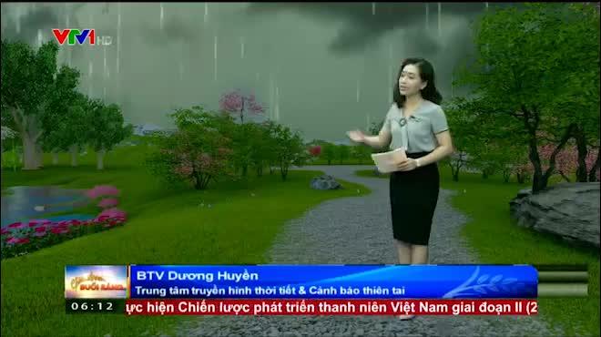 Dự báo thời tiết VTV 21/07: Miền Bắc tiếp tục có mưa dông diện rộng