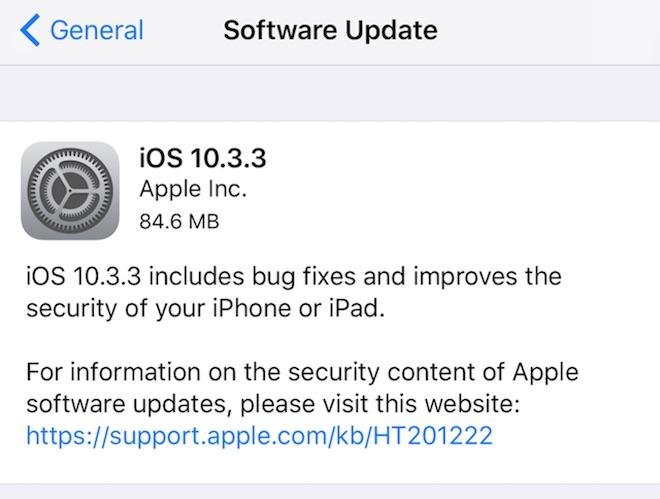 Trước khi có iOS 11 chính thức, hãy cập nhật ngay iOS 10.3.3 cho iPhone - 1