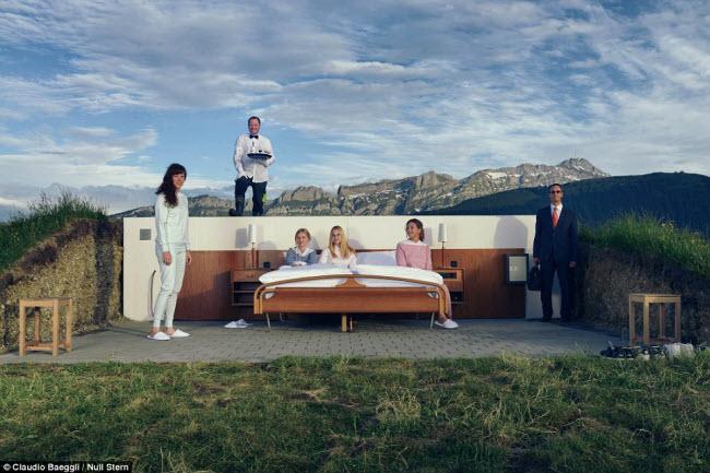 Lạ lùng khách sạn không có gì ngoài giường trên núi Alps - 6