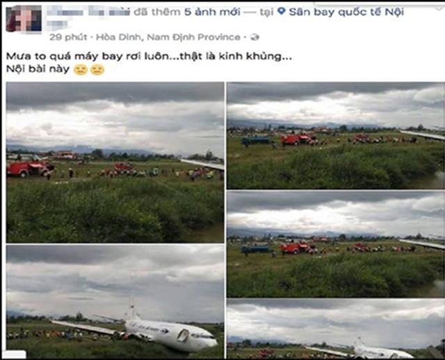 Lộ diện người tung tin thất thiệt máy bay rơi ở Nội Bài - 1