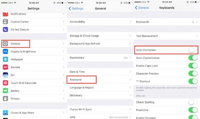 Cách tắt tính năng tự động sửa từ trên iPhone - 1