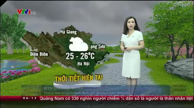 Dự báo thời tiết VTV 23/7: Bắc Bộ oi nóng, Nam Bộ có mưa dông diện rộng