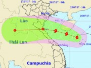 Bão số 4 giật cấp 10 hướng vào Thanh Hóa - Quảng Bình