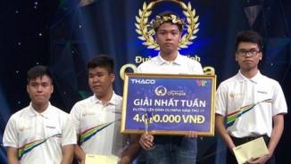 10X Quảng Nam bứt phá giành giải nhất cuộc thi tuần Olympia