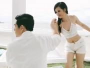 Đông Nhi bị bạn trai  hững hờ  khi cầu hôn ở biển