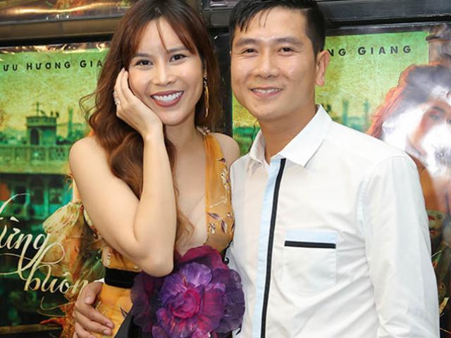 Lưu Hương Giang mặc sexy, e thẹn bên chồng như thuở mới yêu
