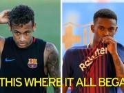 """Bóng đá - Barca trước """"El Clasico"""": Neymar hành hung đồng đội mới"""