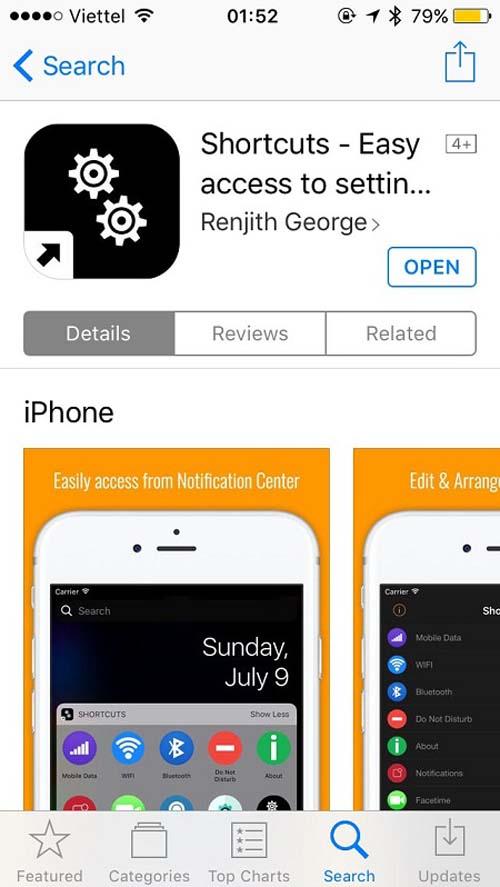 Cách bật, tắt nhanh 3G và các thiết lập khác trên iPhone - 1